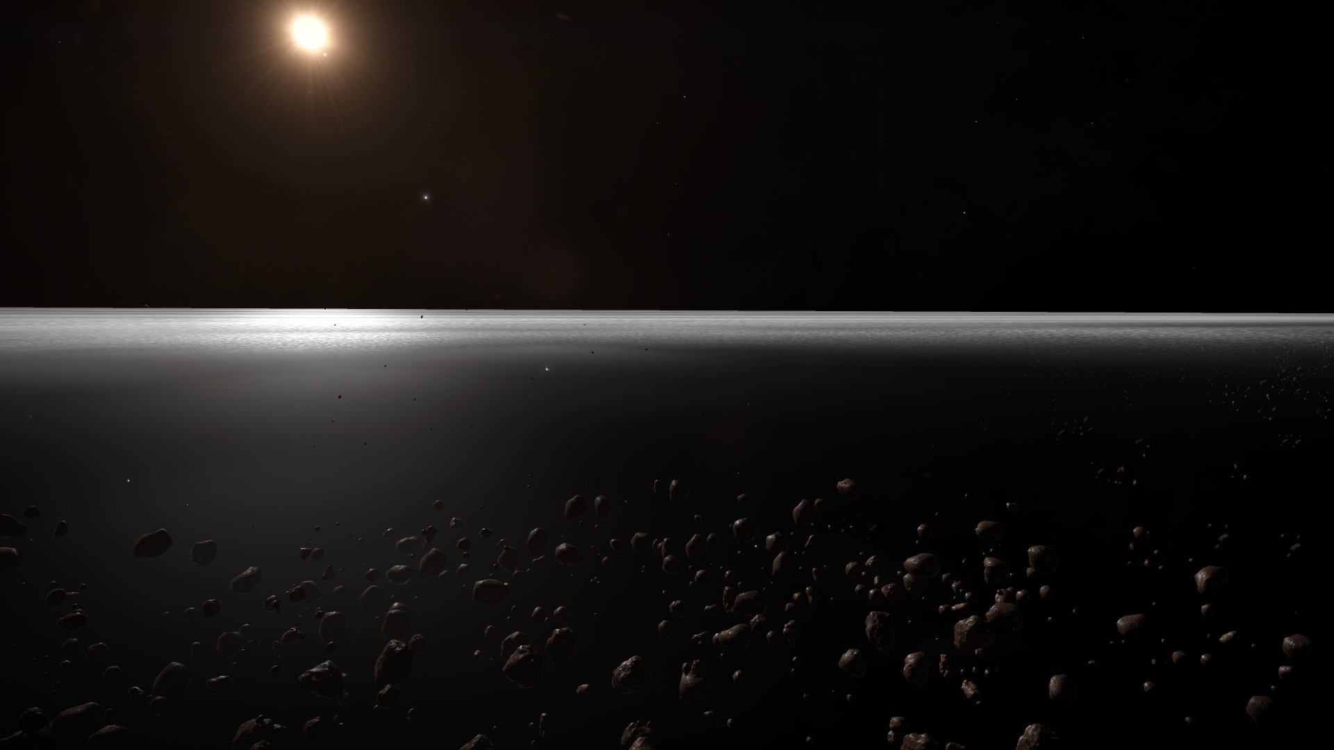The outer ring of a Gas Giant