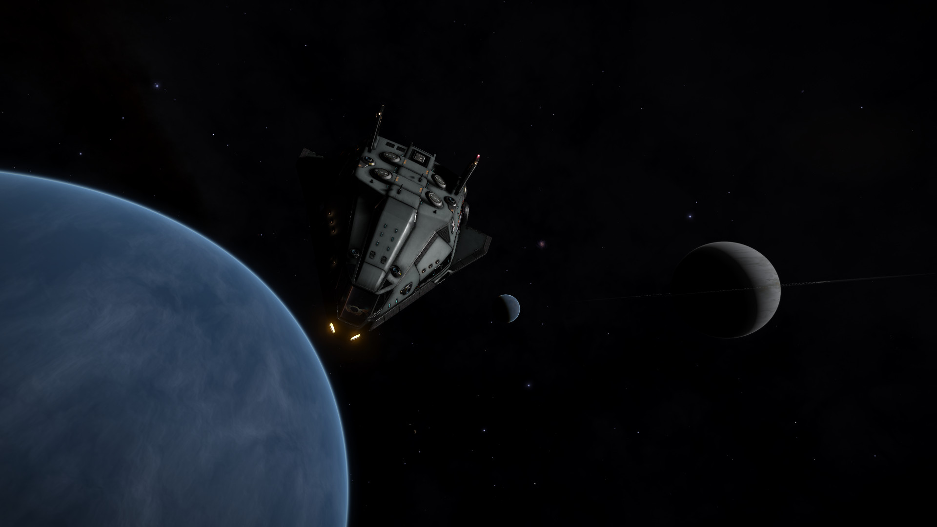 Water World and High-Metal Content World orbiting a Class II Gas Giant